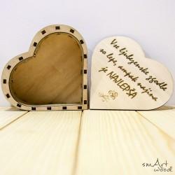 Lesena škatlica Srček