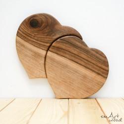 Unikatna lesena deska Srček